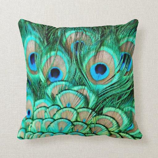 Peacock Throw Pillows Zazzle