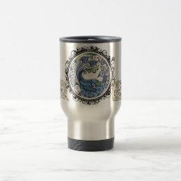 Peacock Travel Mug with Logo