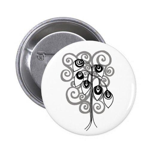 peacock tree button