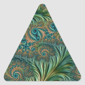 Peacock Triangle Sticker