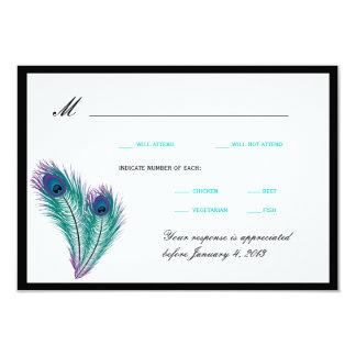 Peacock Tuxedo RSVP Cards