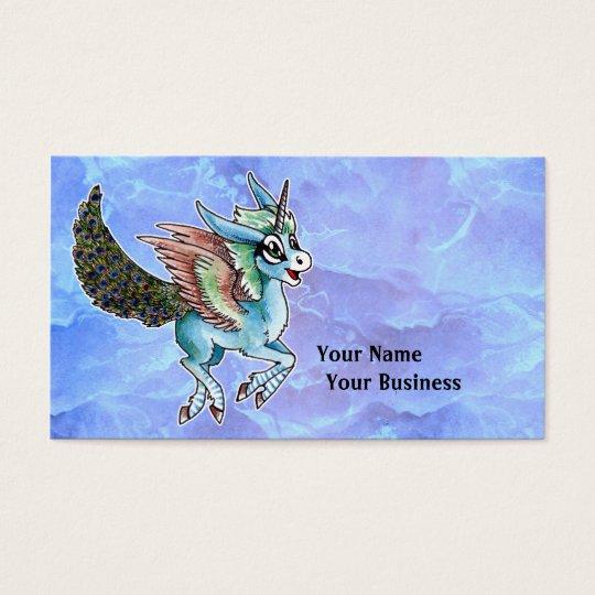 Peacock Unicorn Business Card