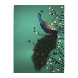Peacock Vintage Art Wood Wall Decor