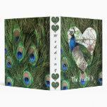 Peacock Wedding 3 Ring Binder