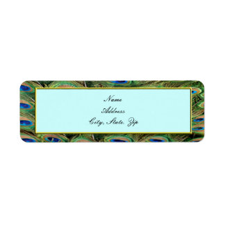 Peacock Wedding Address Labels