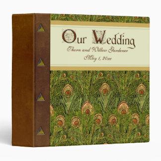 Peacock Wedding Album 3 Ring Binder