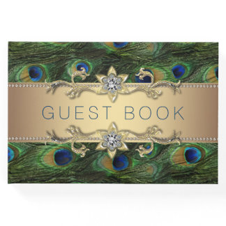 Peacock Wedding Guest Book