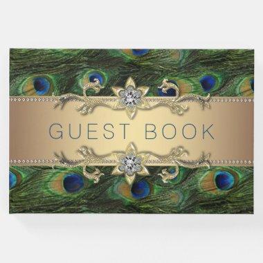 Peacock Wedding Guest Book