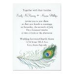 "Peacock Wedding Invitation 5"" X 7"" Invitation Card"