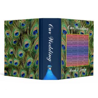 Peacock Wedding Photo Album/Guest Book 3 Ring Binder