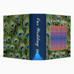 Peacock Wedding Photo Album/Guest Book Binder
