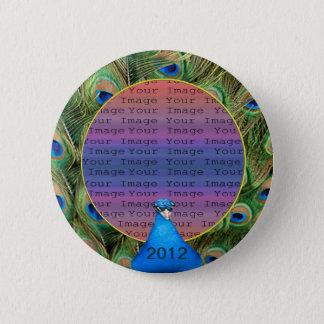 Peacock Wedding Photo Button