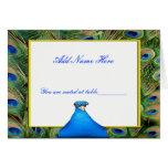 Peacock Wedding Place Card