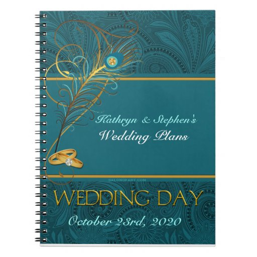 Peacock Wedding Planner Notebook