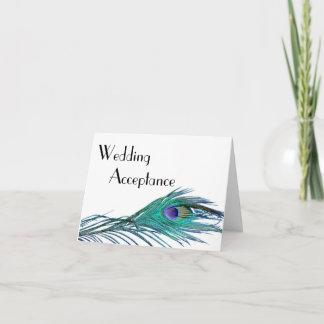 Peacock Wedding Response Card