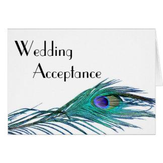 Peacock Wedding Response Card (with Entrée Choice)