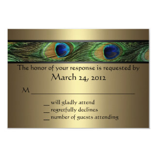Peacock Wedding RSVP Card