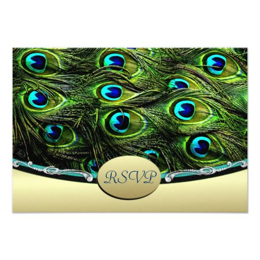 Peacock Wedding RSVP Wedding Cards Custom Announcements