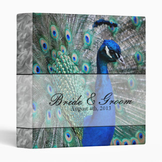 Peacock Wedding Theme 1 3 Ring Binder
