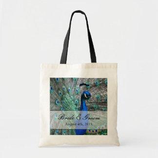Peacock Wedding Theme 1 Budget Tote Bag