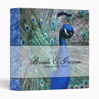 Peacock Wedding Theme 1 (Blue) 3 Ring Binder