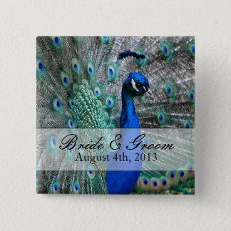 Peacock Wedding Theme 1 Button