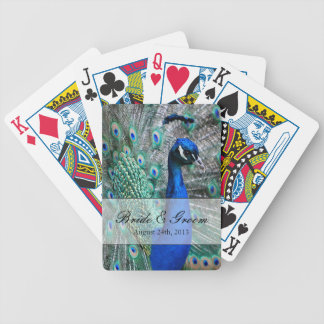 Peacock Wedding Theme 1 Bicycle Card Deck