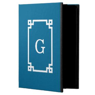 Peacock White Greek Key Framed #2 Initial Monogram Powis iPad Air 2 Case