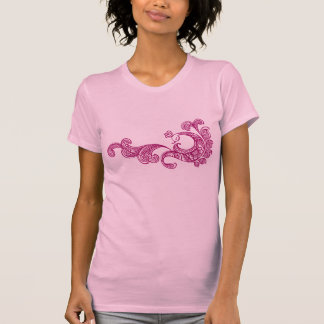 peacock(wine) pink t- shrit t-shirt