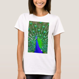 Peacock with fanned tail T-Shirt