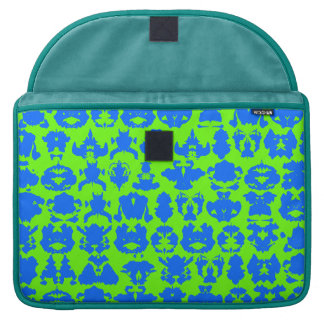 Peacock with Ink Blots Sleeve For MacBooks