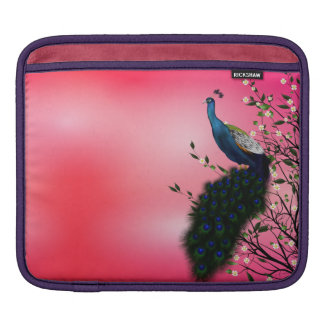 Peacock with Japanese blossom iPad Sleeve