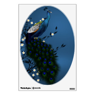 Peacock with Japanese Blossom Wall Decal