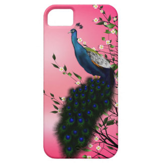 Peacock with Japanese blush sum iPhone SE/5/5s Case