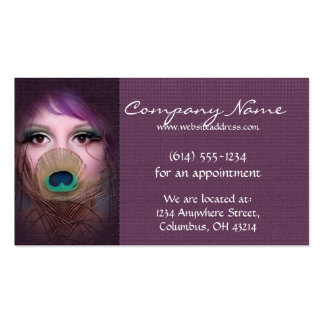Peacock Woman D3 - Beauty Business Cards