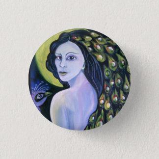 Peacock woman. pinback button