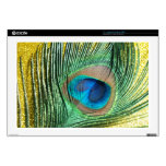 Peacock Yellow Glittery Still Life Laptop Skins
