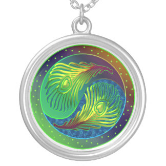 Peacock Yin Yang Necklace