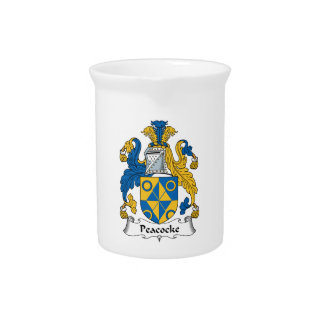 Peacocke Family Crest Beverage Pitcher