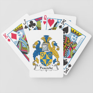 Peacocke Family Crest Bicycle Poker Deck