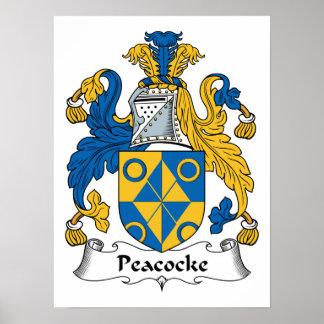 Peacocke Family Crest Poster