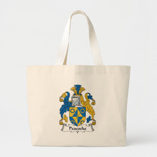 Peacocke Family Crest Tote Bags