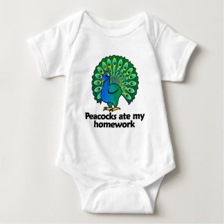 Peacocks ate my homework baby bodysuit