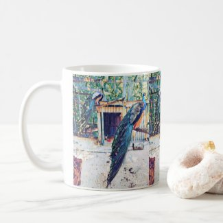 Peacocks by Harlem Mama Coffee Mug