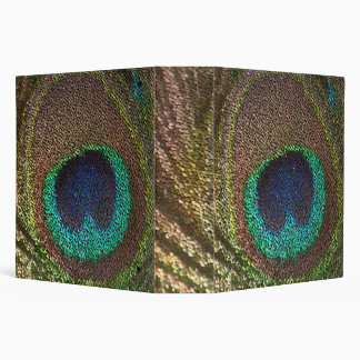 peacocks feathers vinyl binder