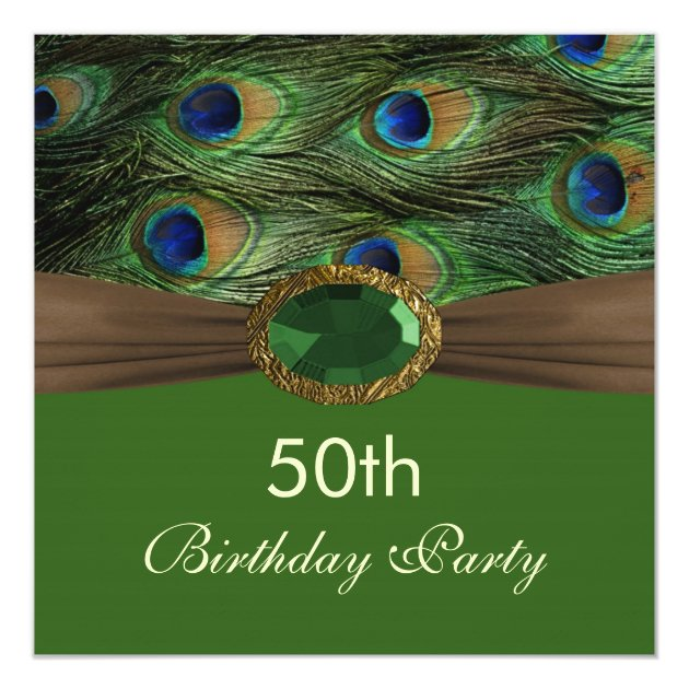 peacock s feathers gemstone effect 50th birthday