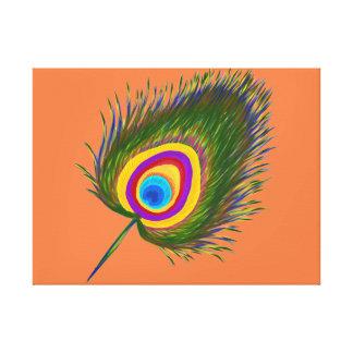 Peacock's fethure print canvas print
