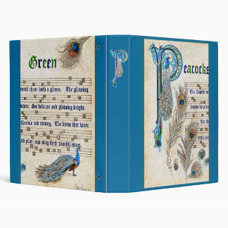 Peacocks Green Manuscript Binder