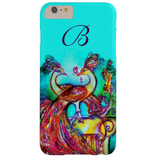PEACOCKS IN LOVE MONOGRAM BARELY THERE iPhone 6 PLUS CASE