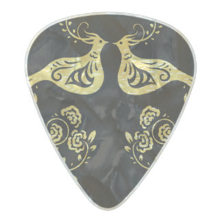 Peacocks in Love Pearl Celluloid Guitar Pick